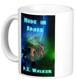 Nude in space mug