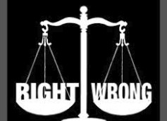 Moral - right and wrong