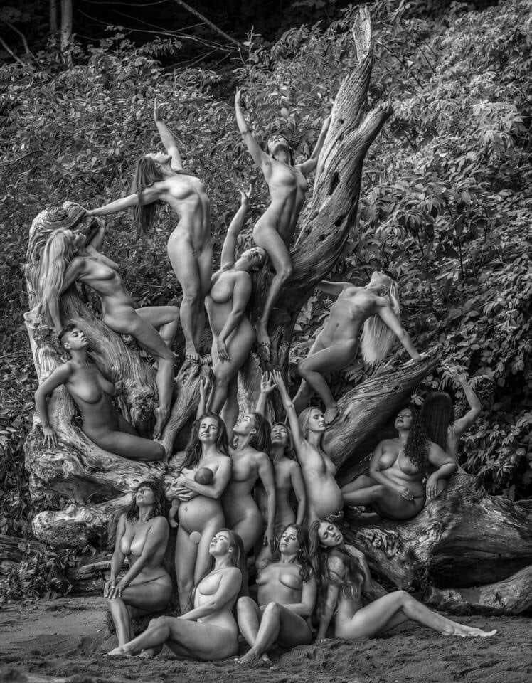 Nudist People Tree
